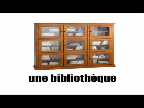 Fran ais vocabulaire les youtube for Les meubles