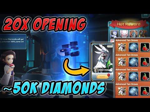 Spending 50k Diamonds and opening 20x Capsules! – Pokeland Legends