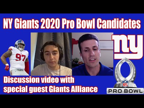 NY Giants 2020 Defense Pro Bowlers With Giants Alliance Discussion Video