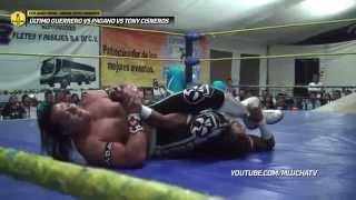 Último Guerrero vs Pagano vs Tony Cisneros, en Chilanga Mask
