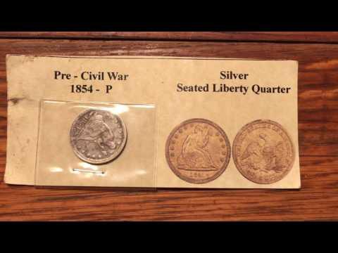 Pre-Civil War 1854-P Silver Seated Liberty Quarter