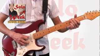 "Stevie Ray Vaughan - ""Voodoo Chile"" Guitar Solo & Lesson - SoloAWeek 37 - Solo a Week 37"