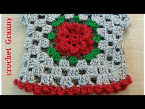 Crochet granny flower top 💔-1Crochet abuelita cuadrados flor Arriba/TheCrochetworld