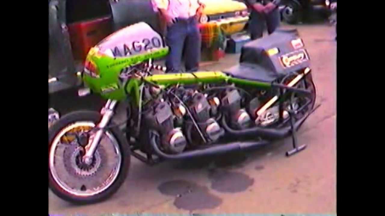 Triple Engined 9 Cylinder Kawasaki Drag Bike July 1981 Youtube