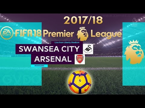 FIFA 18 Swansea City vs Arsenal | Premier League 2017/18 | PS4 Full Match