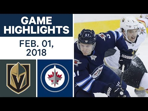 NHL Game Highlights | Golden Knights vs. Jets – Feb. 1, 2018