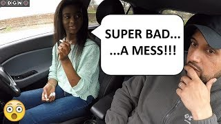 You Won't Believe How Many Faults This Learner Driver Made | She Forgot To Turn Car On!