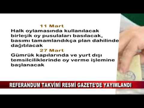 REFERANDUM TAKVİMİ RESMİ GAZETE'DE YAYIMLANDI (14.02.2017 - BOLU)