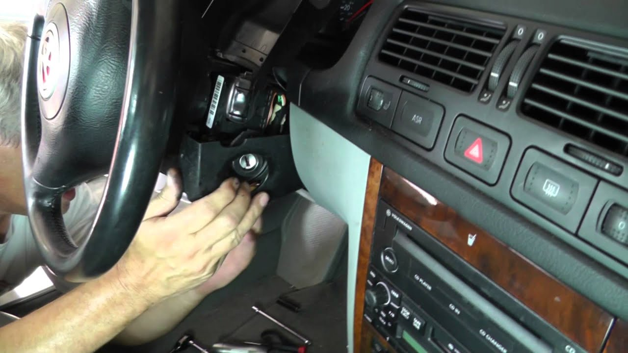 Volkswagen Jetta Removing Ignition Switch Part 2 Youtube