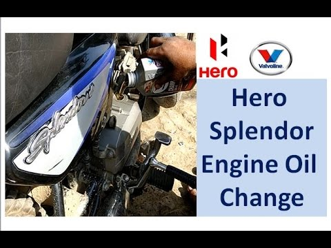 Hero Splendor Bike Engine Oil Change | Hero Honda Splendor Bike Service