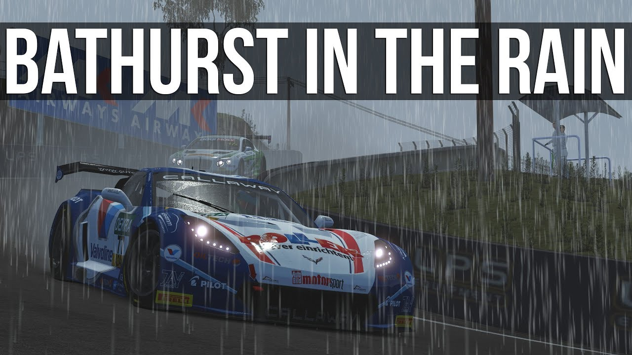 rFactor  2 - What's It Like Driving Bathurst In The Rain? | VR |