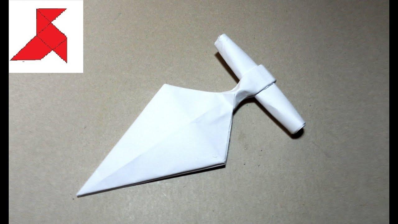 DIY - Как сделать ТЫЧКОВЫЙ НОЖ из бумаги а4 своими руками?