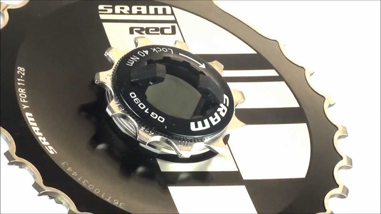 SRAM Red OG-1090 Cassette 10 Speed 11-26T Good