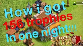 How to get tons of trophies FAST! Clash of Clans! Icewolf Gaming!
