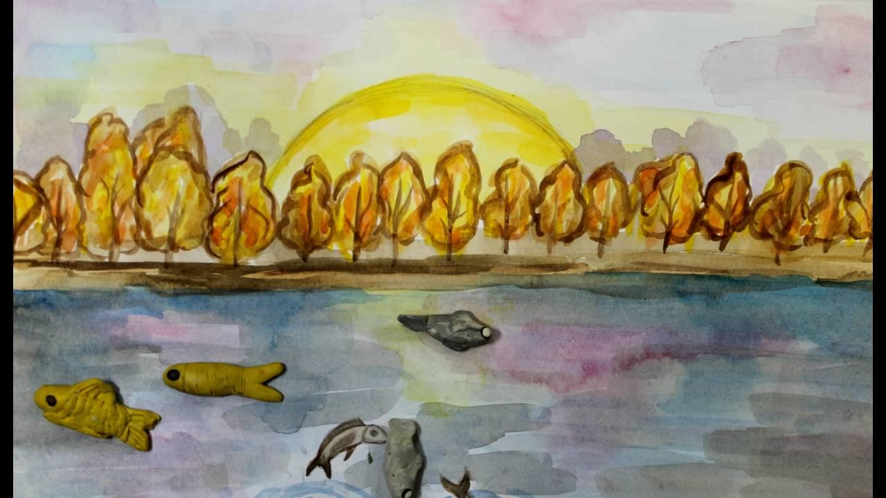 Картинки васюткино озеро поэтапно