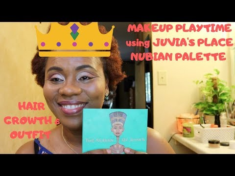 Makeup Playtime Using Juvias Place Nubian Palette | Hair Growth & Outfit Of The Day