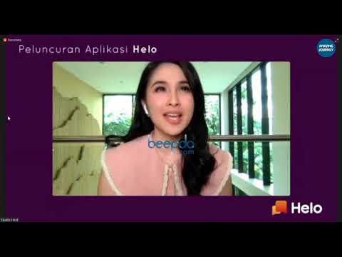 Cantiknya Sandra Dewi Saat Hadir di Peluncuran Aplikasi Helo Secara Virtual