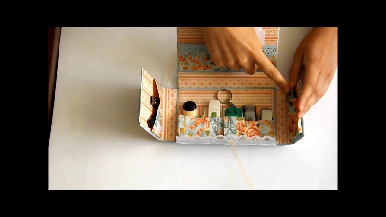 Tutorial c mo hacer una caja para memorias usb youtube - Como hacer una caja ...