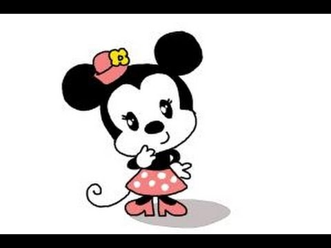 how to draw mickey and minnie mouse