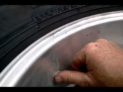 Eagle Alloy defective wheel. Casting leak.
