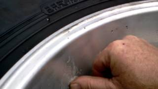 Eagle Alloy defective wheel. Casting leak.