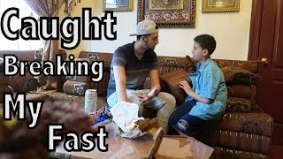 CAUGHT BREAKING MY FAST PRANK ON LITTLE BROTHER!!! (RAMADAN PRANK!)