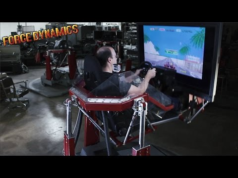 OutRun on the Force Dynamics 401CR racing simulator