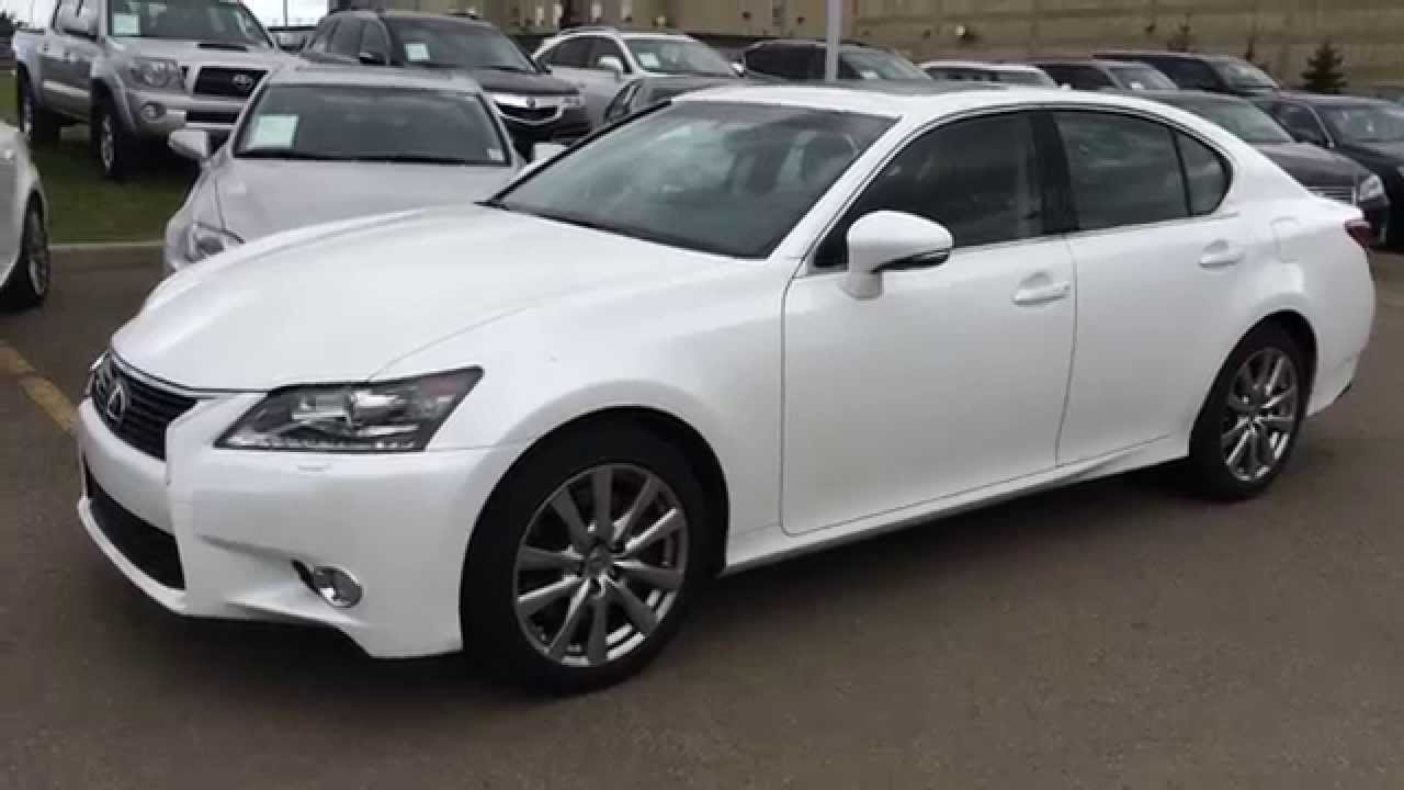 lexus of edmonton executive demo 2014 gs 350 awd navigation review white on black calgary. Black Bedroom Furniture Sets. Home Design Ideas