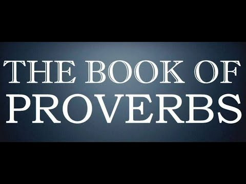 The Book Of Proverbs, The Holy Bible, Complete Audiobook