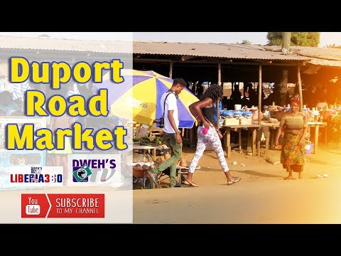 Duport Road Market: Monrovia Liberia