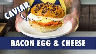 Creating A Caviar Bacon Egg & Cheese Sandwich | Dish It Out | Bon Appétit