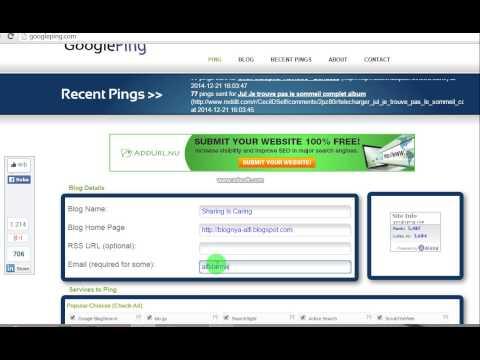 Ping Artikel Blog Dengan Googleping