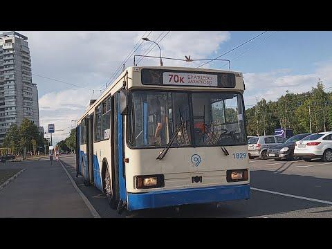 Поездка на троллейбусе Бкм #70к 1829