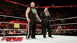Brock Lesnar\'s apology: Raw, June 22, 2015