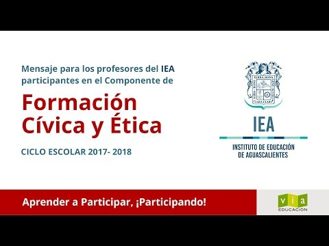 Mensaje para los profesores el Instituto de Educación de Aguascalientes (IEA)