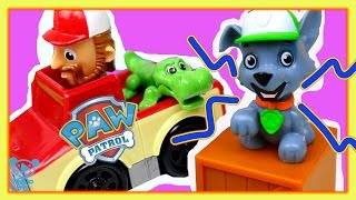 Paw Patrol Toys Track - Paw Patrol Roll Patrol Rocky - Paw Patrol Surprise Eggs - Kids Toys Video