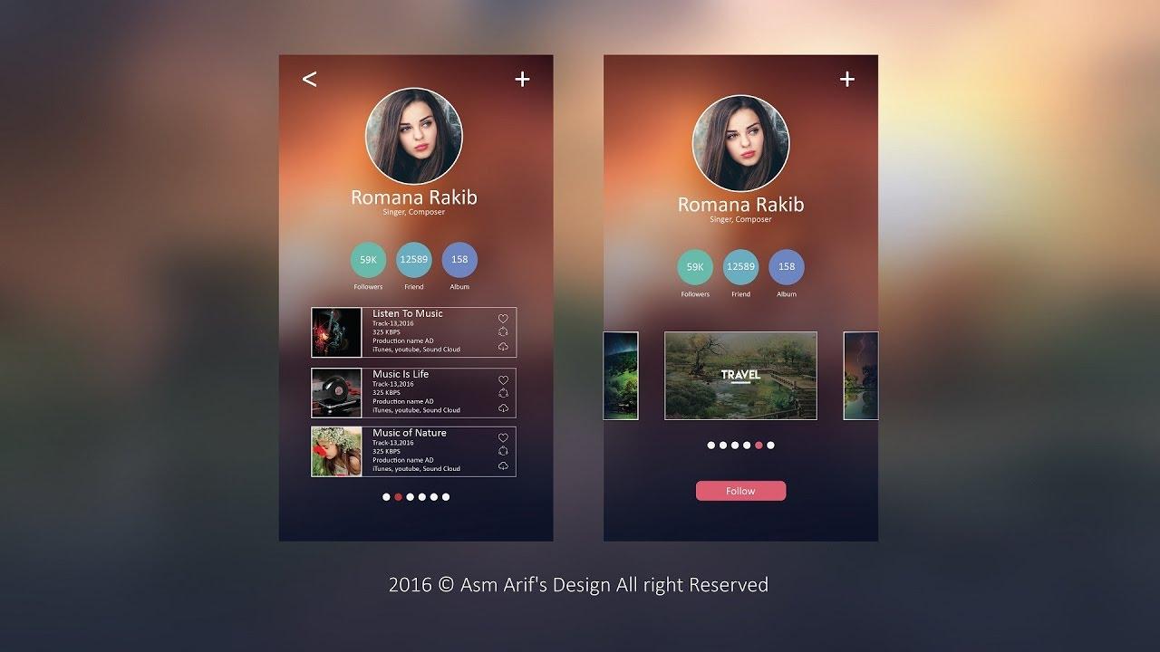 Apps Design Tutorial | Adobe Illustrator CC | UI/UX - YouTube