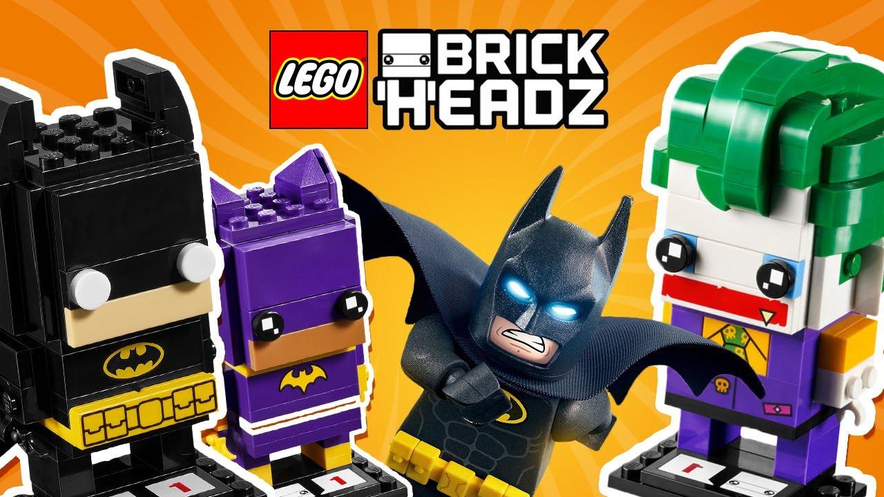batman batgirl joker lego brick heads build youtube. Black Bedroom Furniture Sets. Home Design Ideas