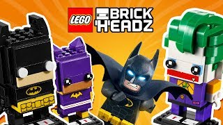 Batman Batgirl Joker LEGO Brick Heads - Build