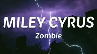 MILEY CYRUS - Zombie (Cover) | Lyrics (HQ Audio)