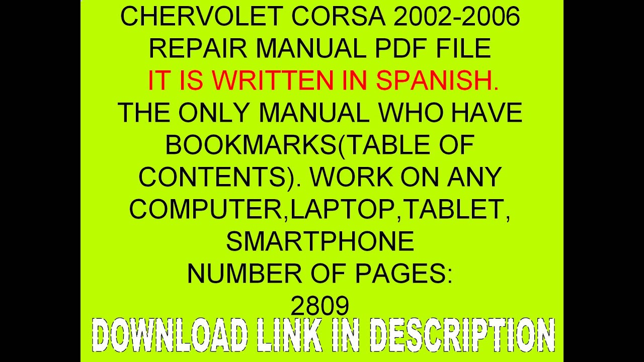 chervolet corsa 2002 2003 2004 2005 2006 corsa manual de