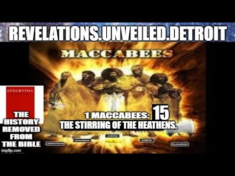 1st MACCABEES 15.  The STIRRING of The HEATHENS.