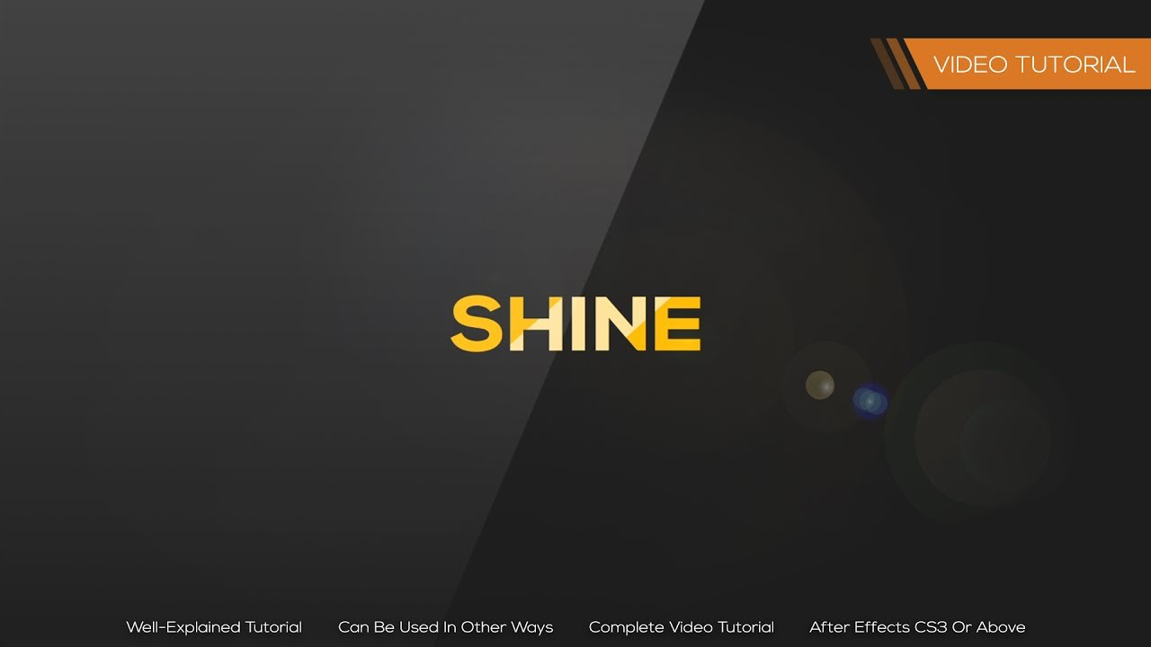 After effects tutorial how to create shine/glint effect. Youtube.