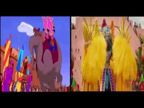 Aladdin - Prince Ali 2019 Vs 1992 Comparison