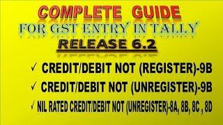 GSTR-1( Debit/Credit Note- Register 9B & Unregister 9B ) in Tally ERP 9 Release 6.2.