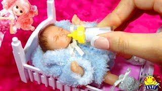 リカちゃん【リアルすぎる赤ちゃん】お世話してミルクをあげよう❤︎幼稚園で先生ごっこ♪ミニチュア赤ちゃん人形劇 Miniature Baby Doll