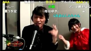 2013年12月24日ニコ生ニコラジ配信コメントを拾いながら即興ラップAAA日...