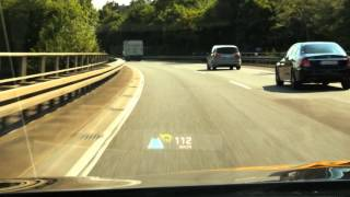 2017 prototype AR-Head Up Display by Continental - Adaptive Cruise Control display