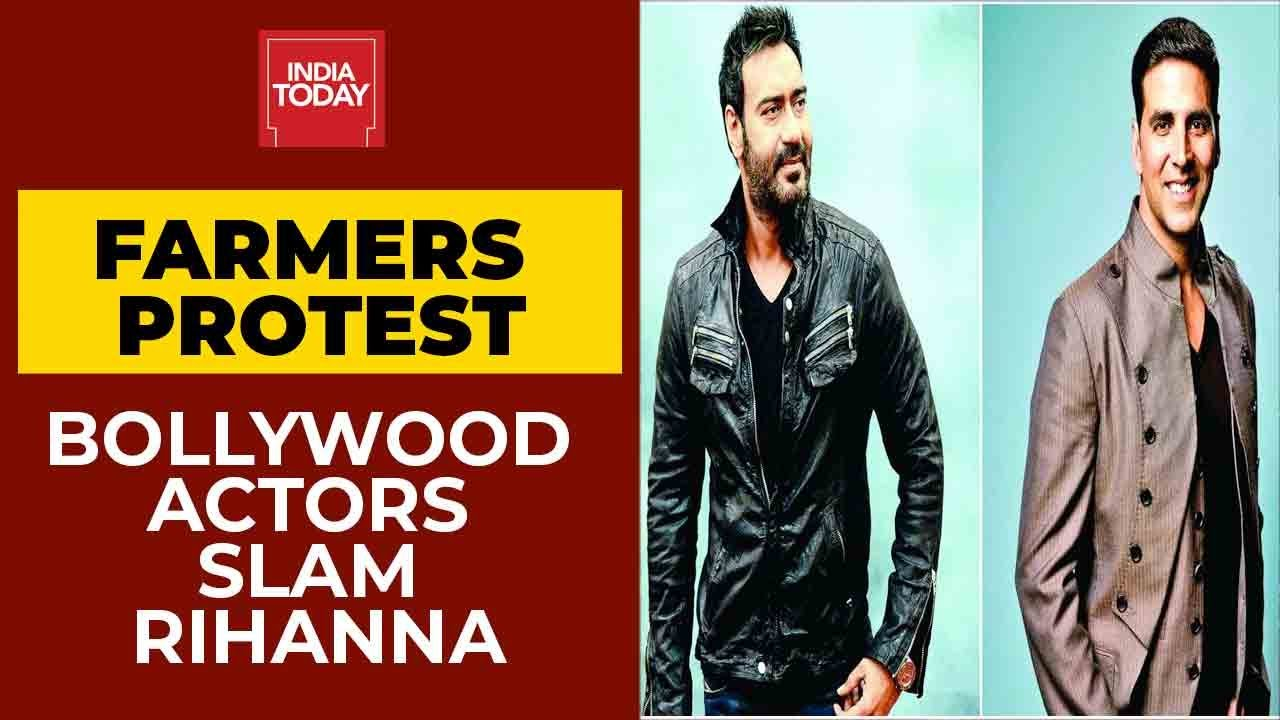 Download Bollywood Stars Akshay Kumar, Ajay Devgn Hit Out At Rihanna Over Support To Farmers' Protest