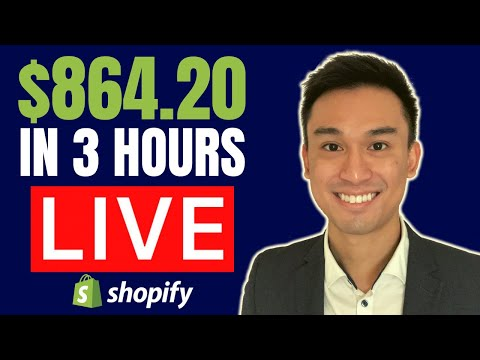 (LIVE) $864.20 in 3 Hours Product Research Breakdown for Shopify Dropshipping thumbnail